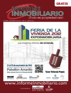 REVISTA INFORME INMOBILIARIO SEPTIEMBRE DE 2012 EDICIÓN 175