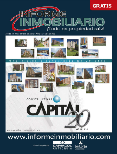 REVISTA INFORME INMOBILIARIO NOVIEMBRE DE 2012, EDICIÓN 177