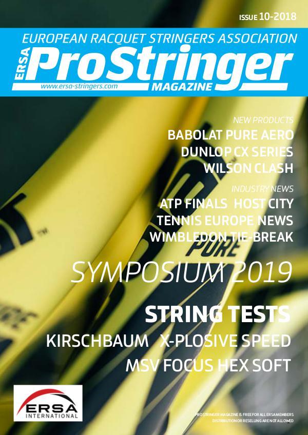 ERSA Pro Stringer Magazine 10 - 2018 prostringer 10 -2018 web