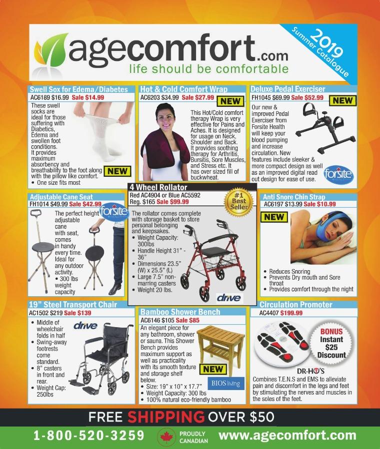 Age Comfort 2019 Summer Catalogue
