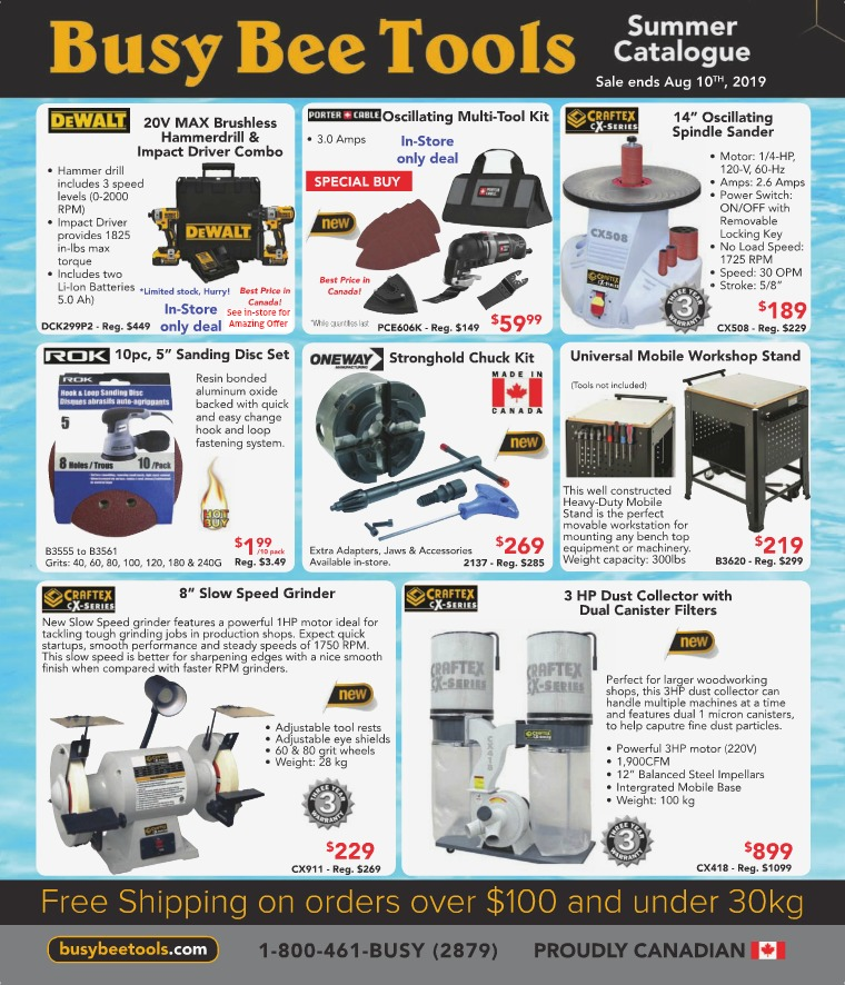 Busy Bee Tools 2019 Summer Catalogue