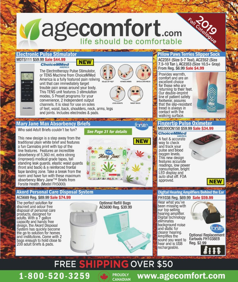 Age Comfort 2019 Fall Catalogue