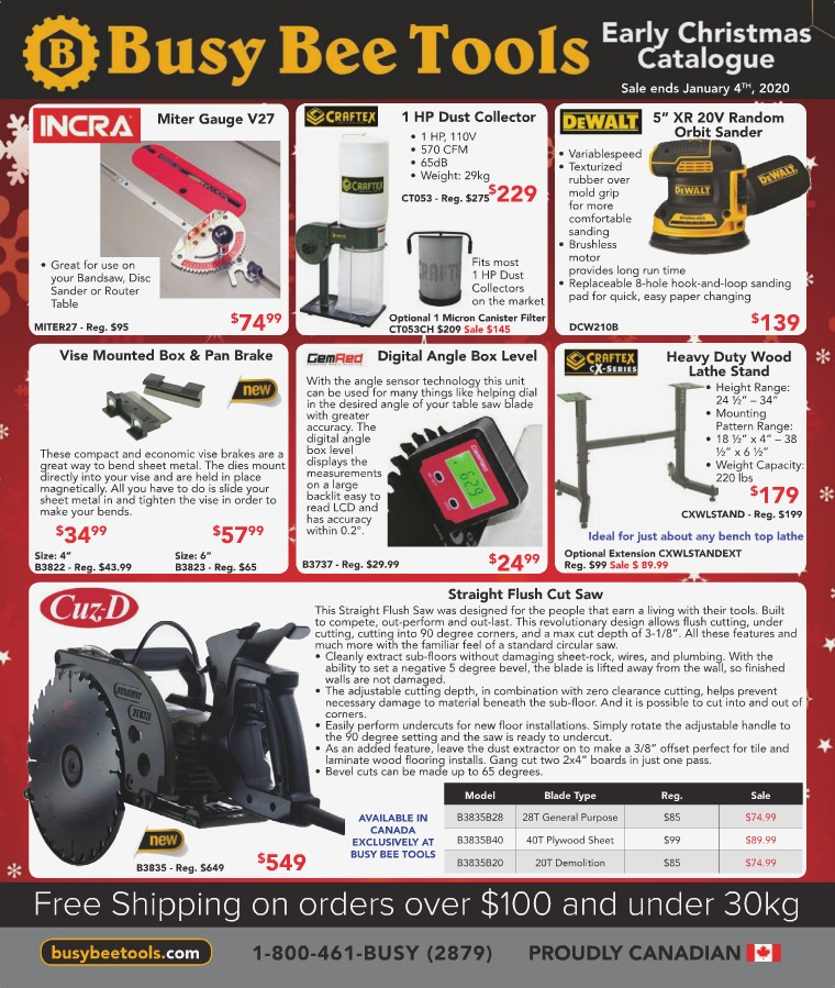 Busy Bee Tools Christmas 2019 Catalogue