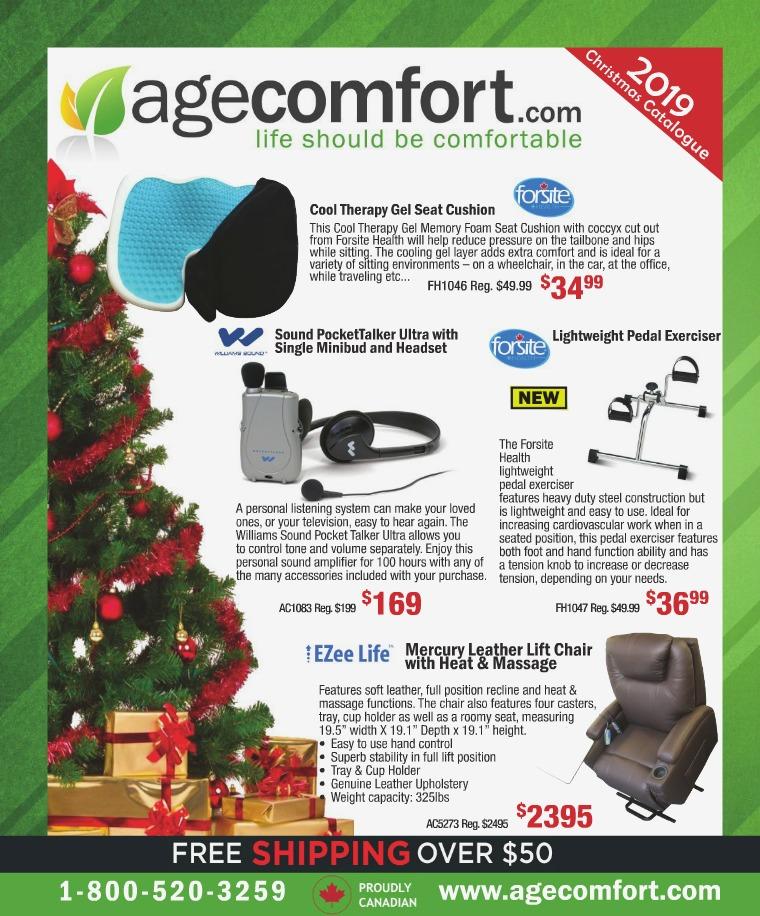 AgeComfort Christmas 2019 Catalogue