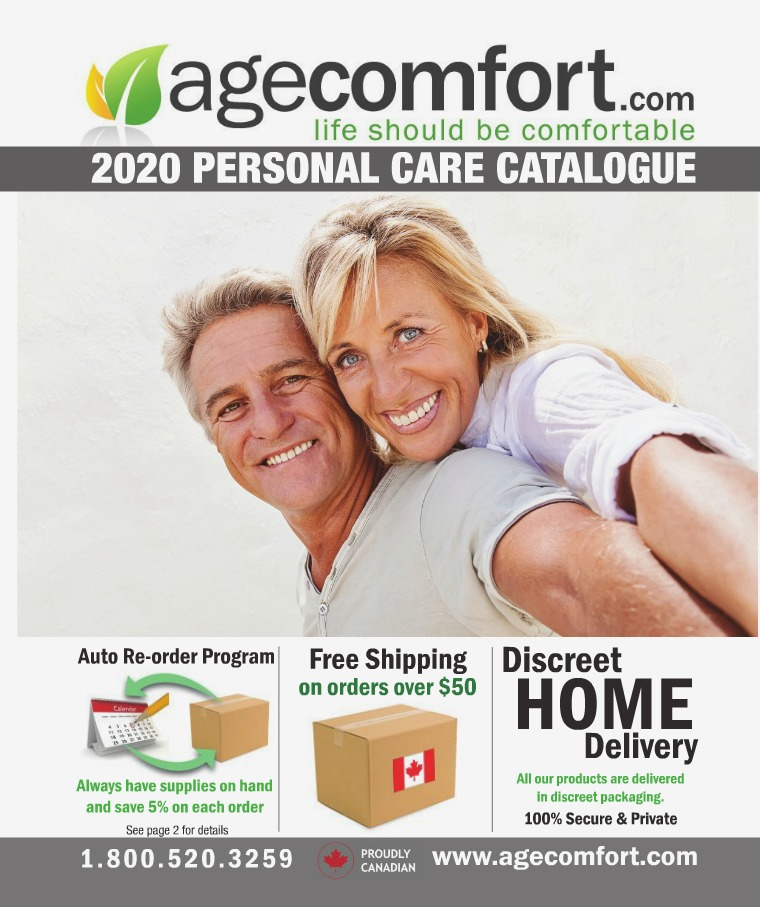 Age Comfort 2020 Personal Care Catalogue