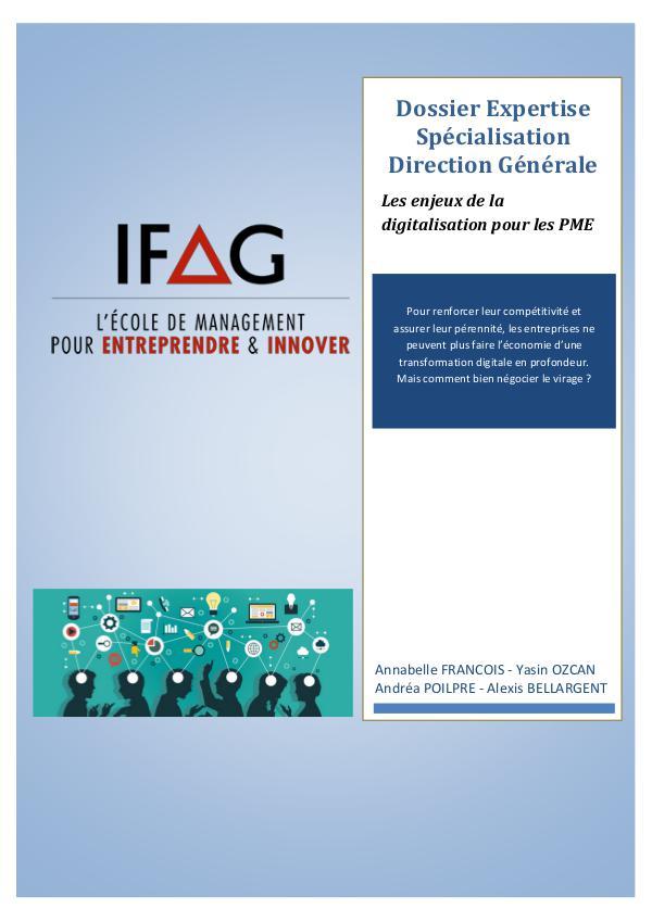 IFAG PARIS - Dossier spé DG - Groupe 3 Dossier SPE DG - Dossier FINAL