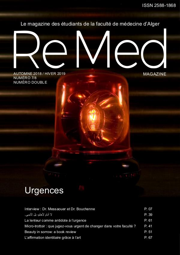 ReMed 2019 Urgences ReMed Magazine Numéro 7-8 (6)