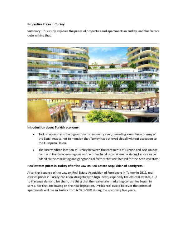 Real Estate in Turkey Properties Prices in Turkey