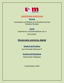 DICCIONARIO PICTÓRICO TENDENCIAS DE LA EDUCACIÓN