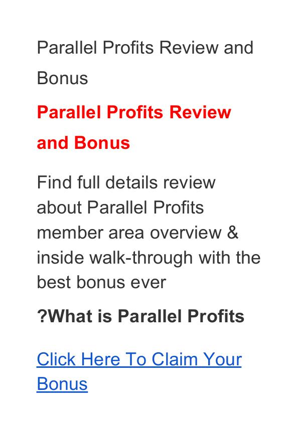 Aidan Booth & Steven Clayton:Parallel Profits Review, Price, Discount Parallel Profits Program Discount