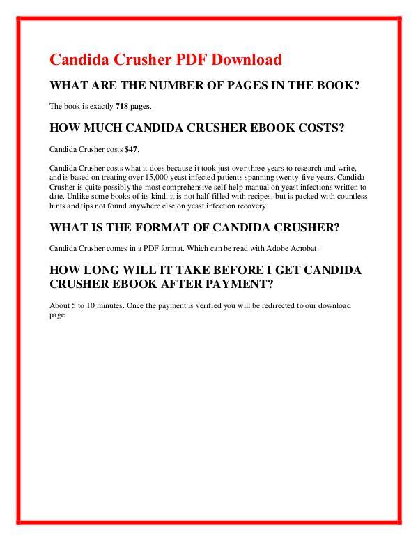 Eric Bak:Candida Crusher PDF EBook Free Download Candida Crusher PDF Free Download
