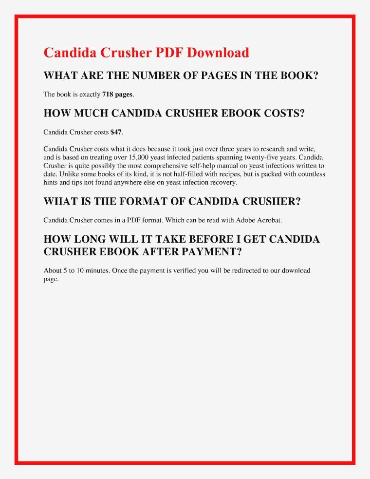 Eric Bak:Candida Crusher PDF EBook Free Download Candida Crusher PDF EBook Free Download   Eric Bak