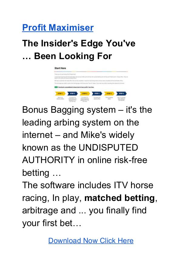 Profit maximizer matched betting software download deepholm farming route mining bitcoins