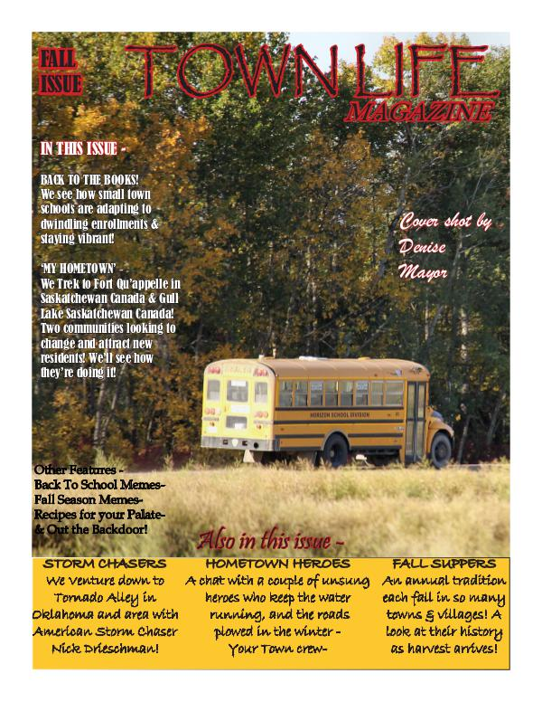 Town Life Magazine Town Life Fall Edition