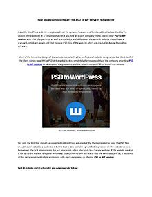 PSD to WordPress - How our WordPress web developers get it right