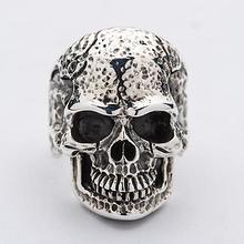 Silver Tough Skull Ring