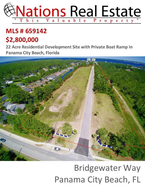 Nations Real Estate Portfolio of Properties Bridgewater Way, Panama City Beach, FL
