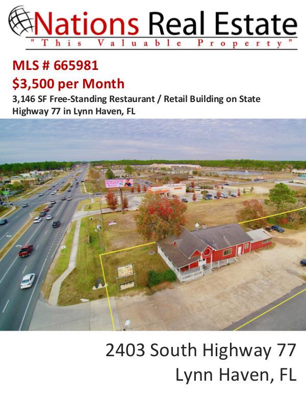 Nations Real Estate Portfolio of Properties 2403 South Highway 77, Lynn Haven, FL 32444