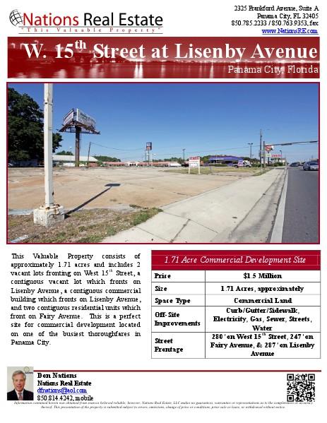 Nations Real Estate Portfolio of Properties 1400 West 15th Street, Panama City, FL