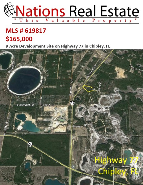 Nations Real Estate Portfolio of Properties 9 Acres Highway 77, Chipley, FL