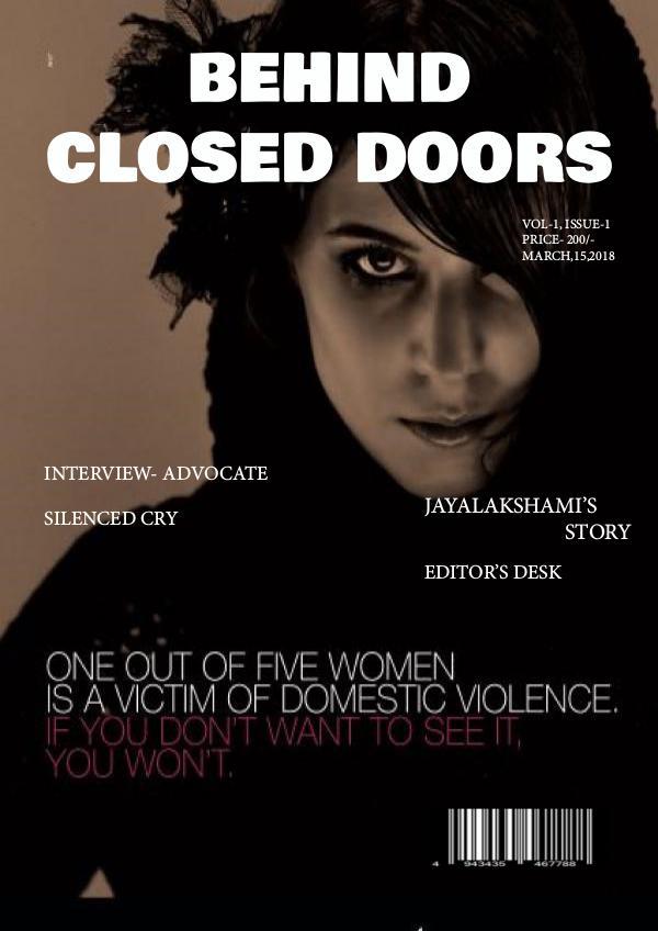 Behind Closed Doors- violence SHWETAMAG