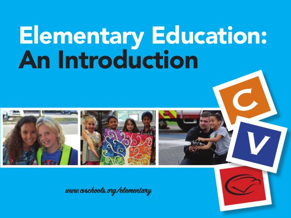 Elementary Education: An Introduction (Updated 2/2018) Welcome to Elementary Ed brochure 2018 WEB VERSION