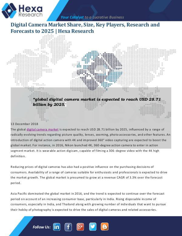 Market Analysis Report Digital Camera Market