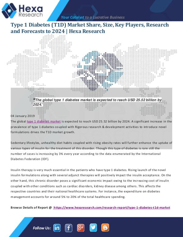 Market Analysis Report Type 1 Diabetes (T1D) Market