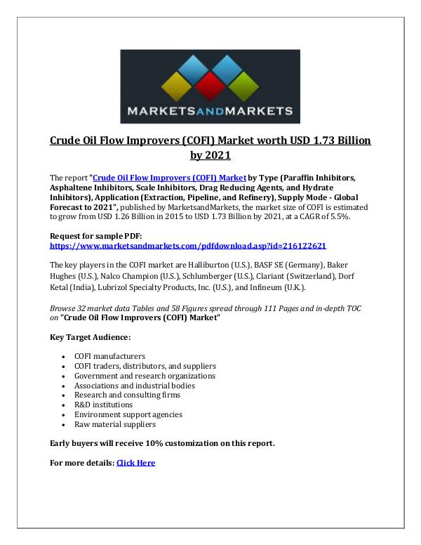 Crude Oil Flow Improvers market
