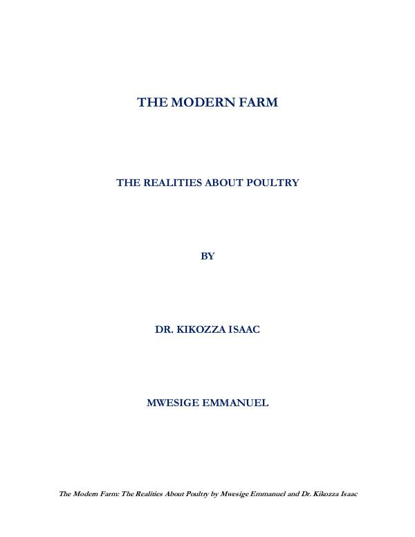 THE REALITIES ABOUT POULTRY The Modern Farm - The Realities About Poultry_Seco