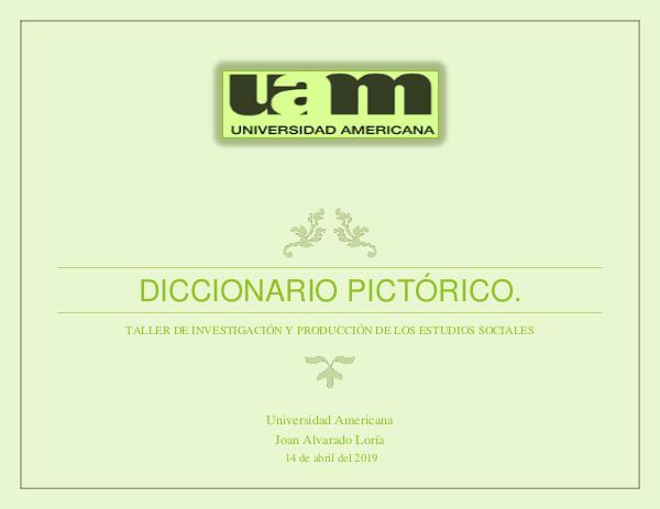 Diccionario Pictórico Investigación y Producción ES diccionario producción e investigación