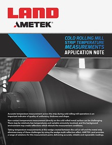 Application Note - Cold Rolling Mill Strip Temperature Measurements