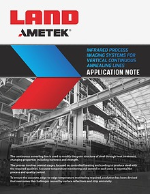 Infrared Process Imaging Systems For Vertical Continuous Annealing