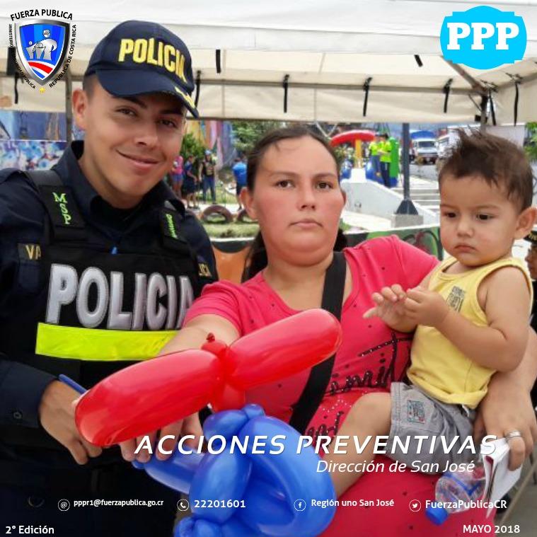 actividades preventivas san josé Acciones Preventivas San José Fuerza publica CR