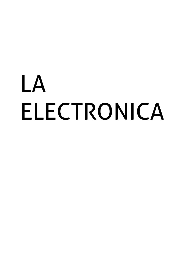 La Electronica VOL 1