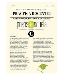 Práctica Docente: Prensa Escuela