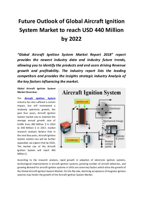 Aircraft Ignition System Market 2018 - 2022
