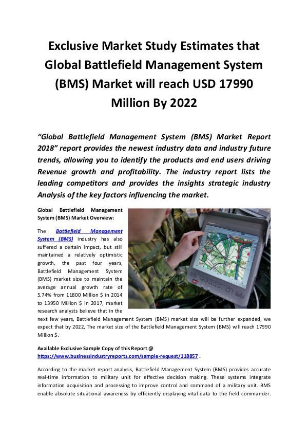 Market Research Reports Battlefield Management System (BMS) Market 2018 -