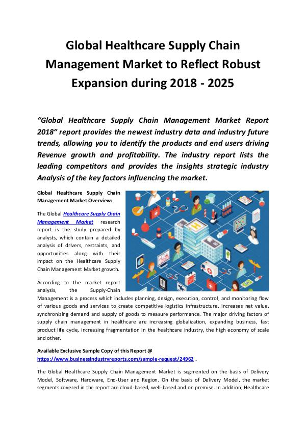 Market Research Reports Healthcare Supply Chain Management Market 2018 - 2