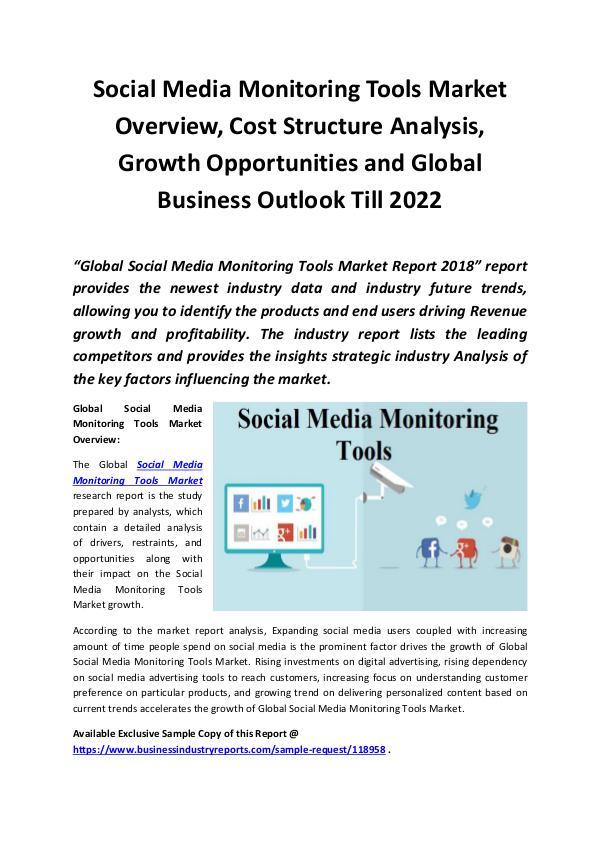 Social Media Monitoring Tools Market 2018 - 2022
