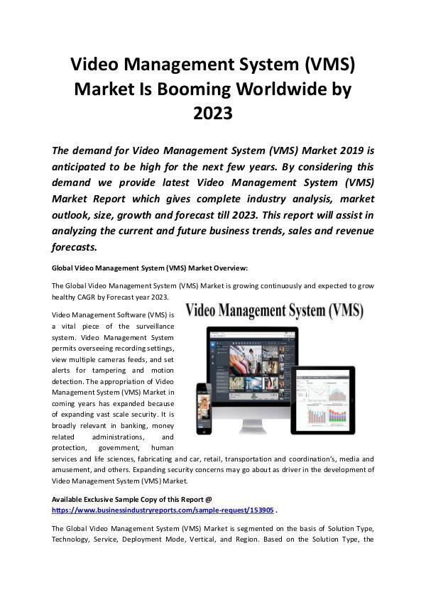 Global Video Management System (VMS) Market 2019