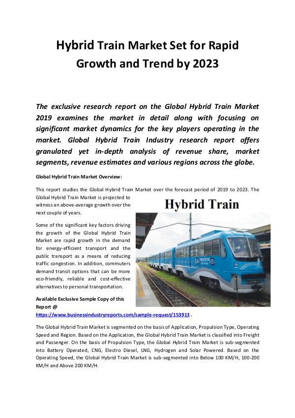 Hybrid Train Market Size, Share, Development by 20