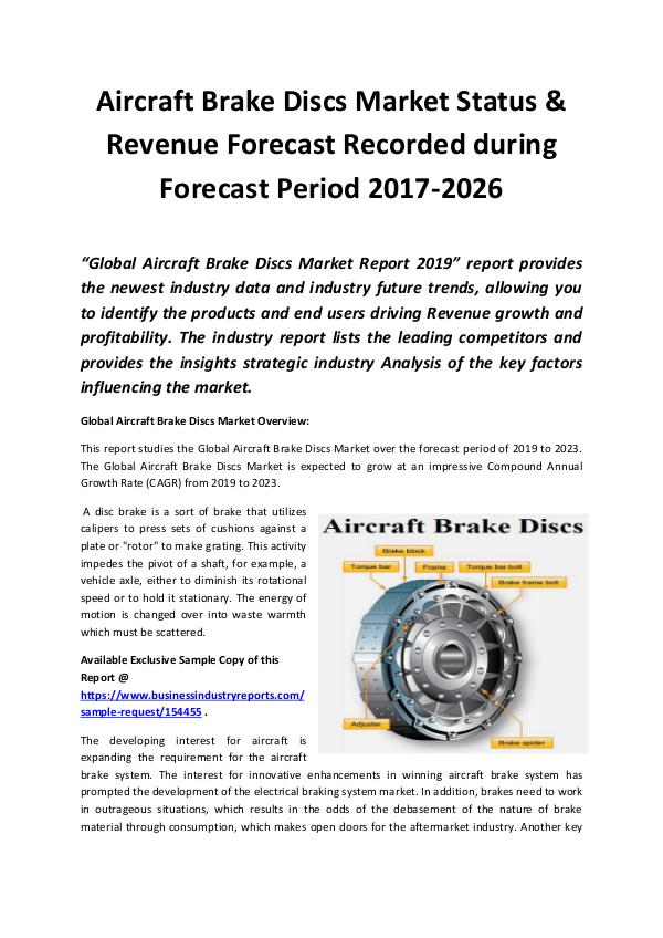 Global Aircraft Brake Discs Market 2019