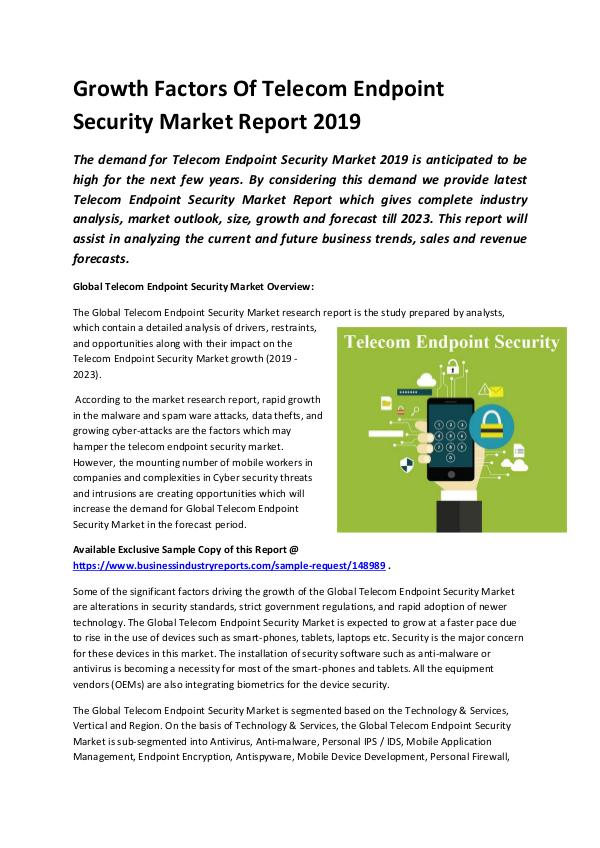 Global Telecom Endpoint Security Market Report 201