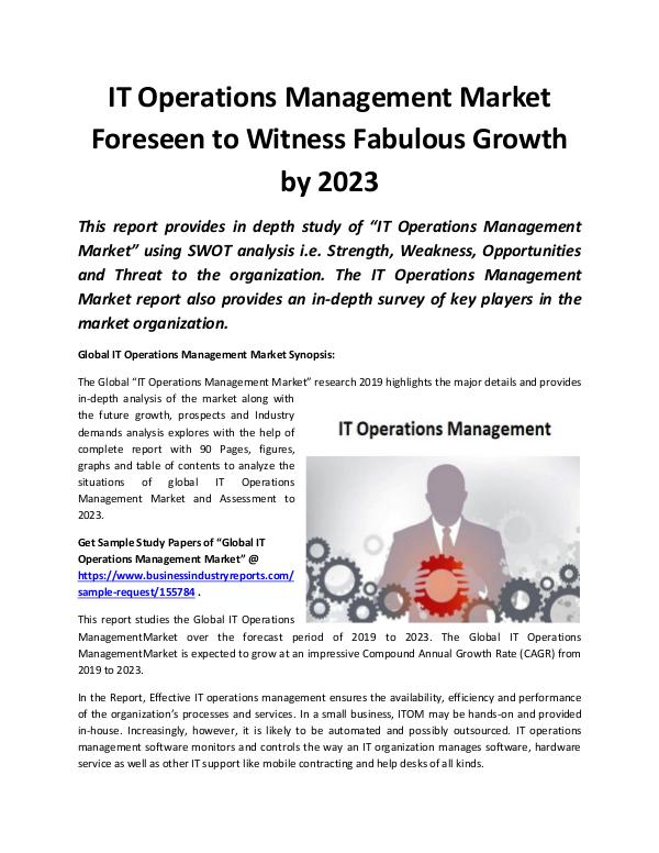 Global IT Operations Management Market 2019