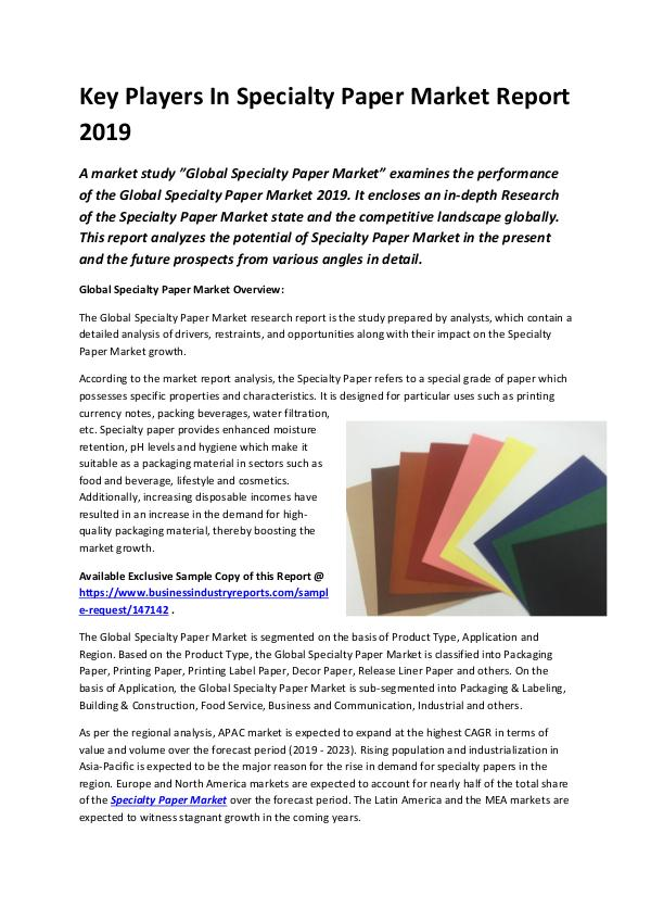 Global Specialty Paper Market Report 2019-converte
