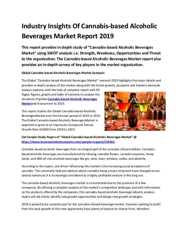 Global Cannabis-based Alcoholic Beverages Market R