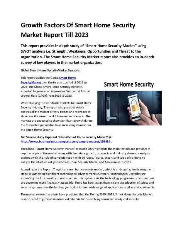 Global Smart Home Security Market Report 2011-conv