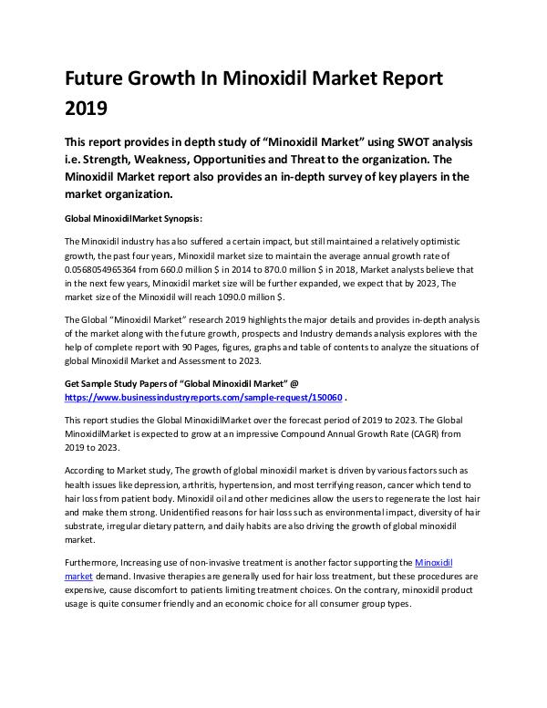 Global Minoxidil Market Report 2019-converted