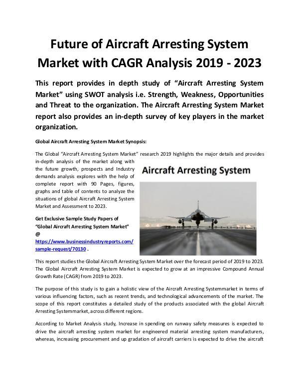 Global Aircraft Arresting System Market 2019